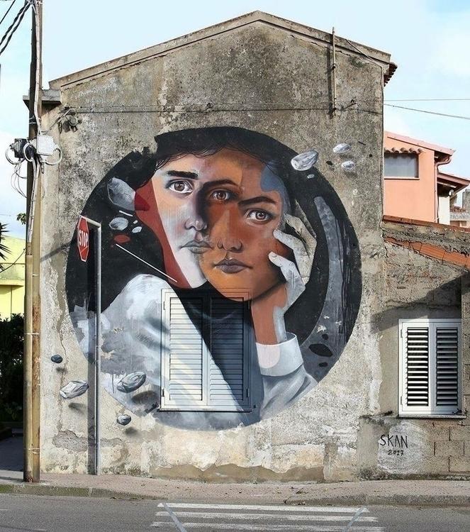 Artist: SKAN Location: San Gavi - streetartunitedstates | ello