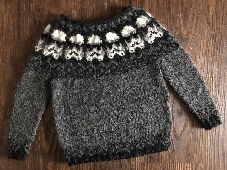 Knitted lopapeysa jumper sweet  - woodlandknitsbyjen   ello