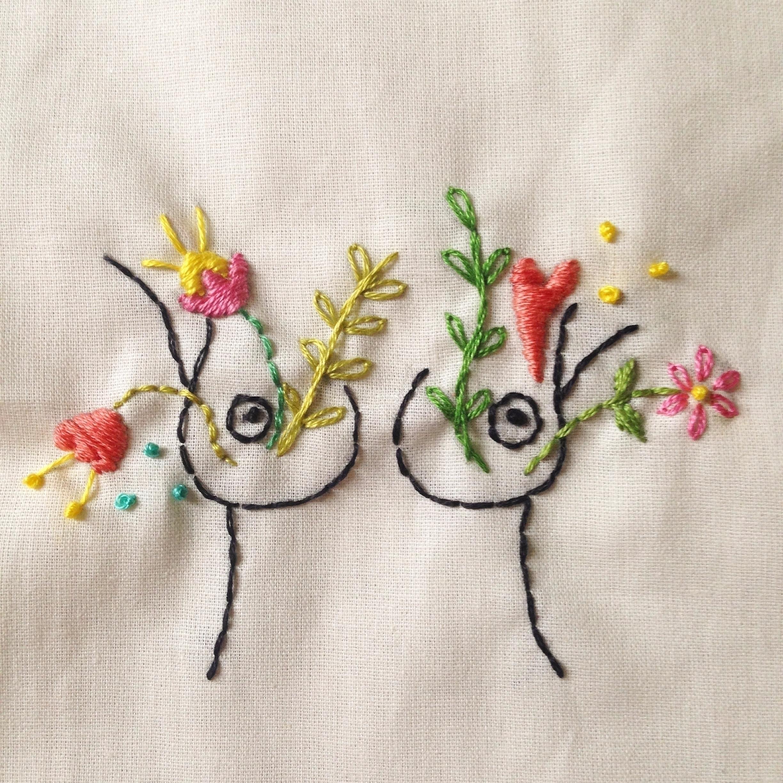 Handmade embroidery. Flowered b - fofysfactory | ello