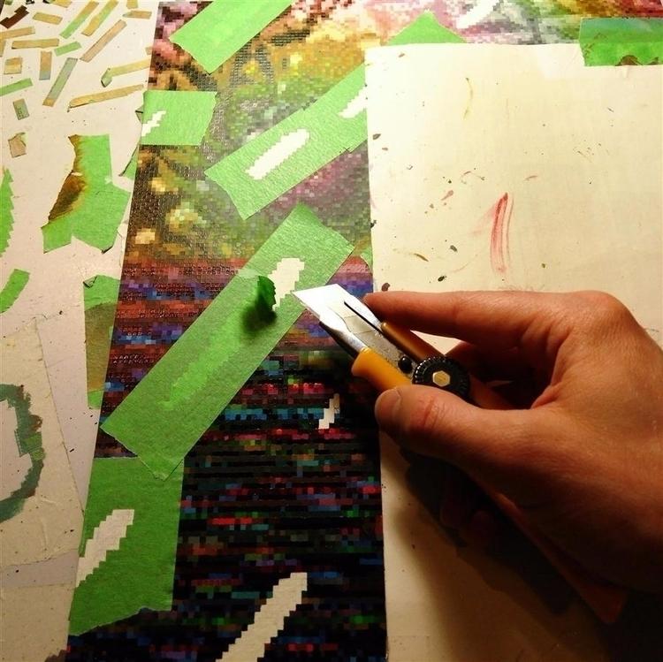 Masking tape knife action. Work - markstebbins | ello