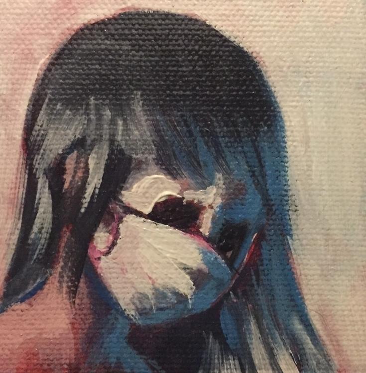 Mini painting. Mask 3x3, acryli - kentack | ello