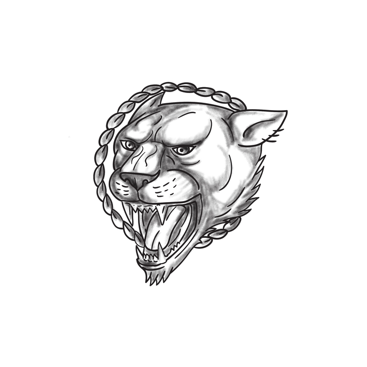 Circle - Lioness, Growling, Rope - patrimonio | ello