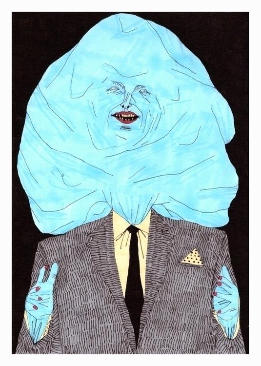 Figure massive shitty blue head - carpmatthew | ello