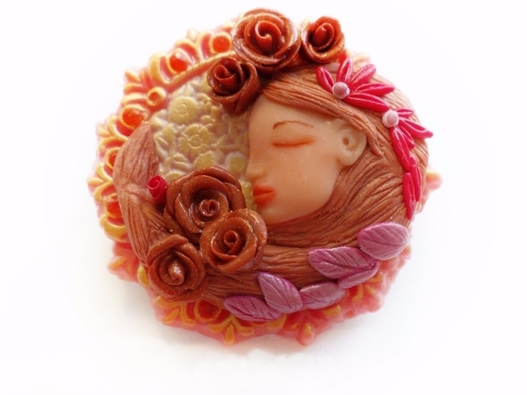 Delicious pink sculpted art nou - abigailsmycken | ello