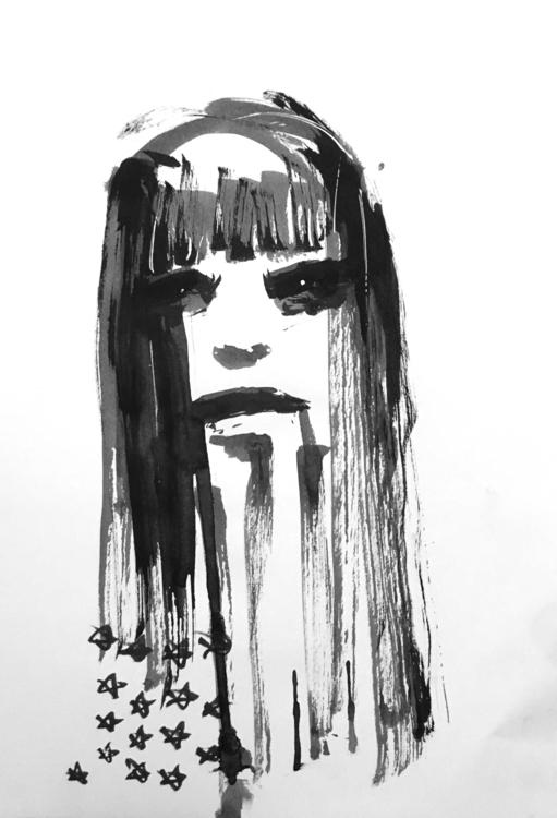home brave - ink, pen, brush, illustration - veryveryserial | ello