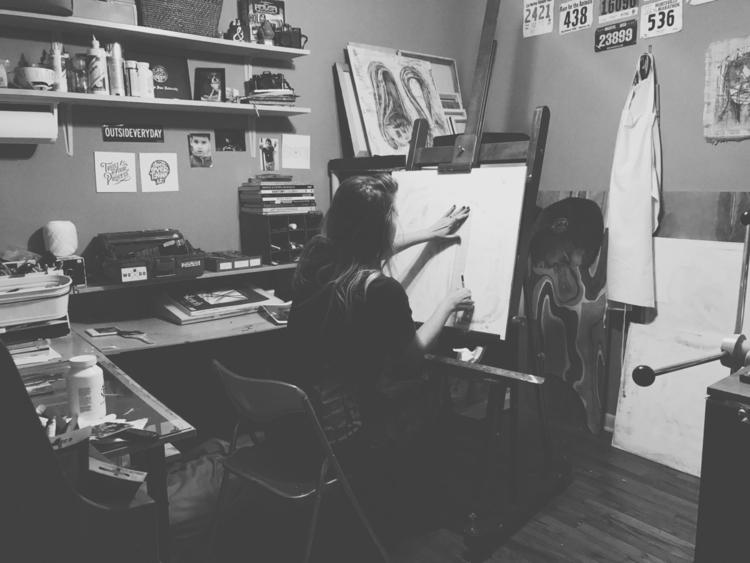 Workflow - process, studio, artistatwork - aarynmir | ello