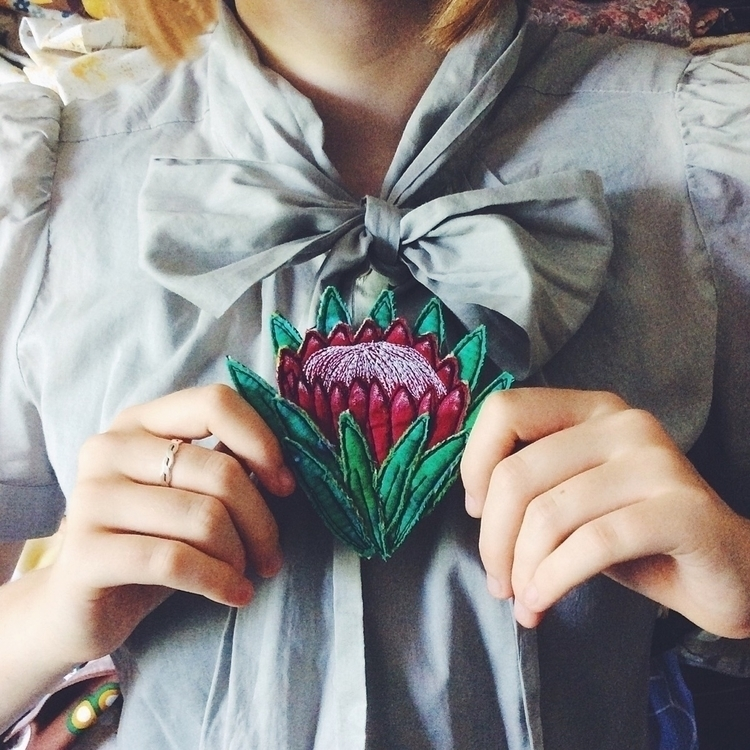 Protea flower represents change - alittlevintagedoll | ello