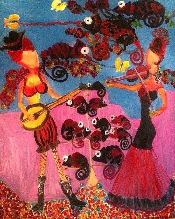 Music chameleons Oil canvas 201 - davidwightman | ello