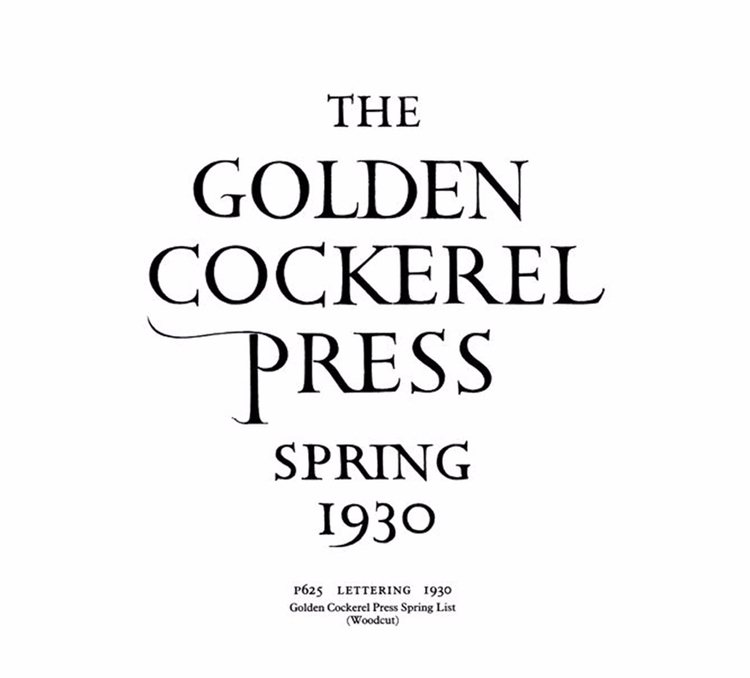 Golden Cockerel Press major Eng - vivlio | ello