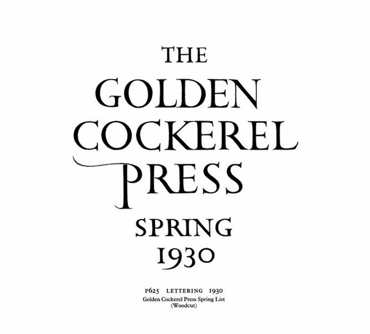 Golden Cockerel Press major Eng - vivlio   ello
