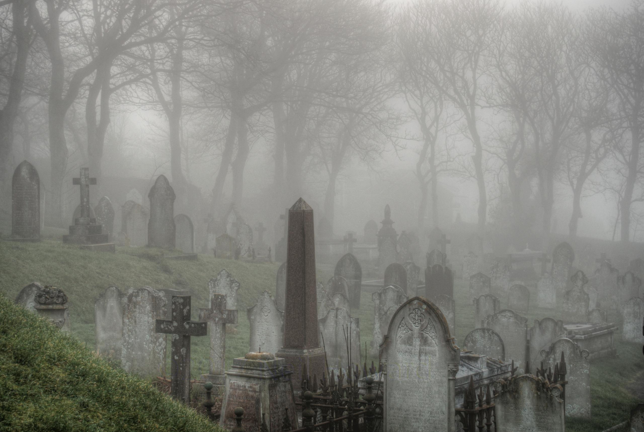 Spooky! Graveyard Alderney fog  - neilhoward | ello