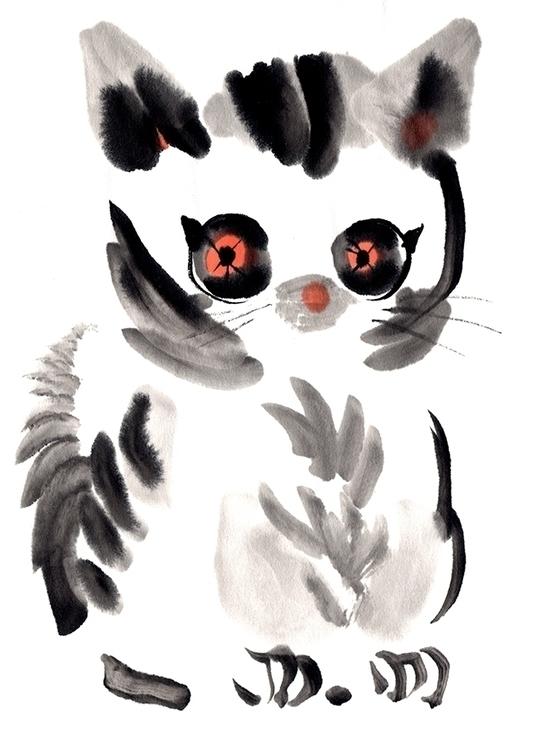 Copycat ink ricepaper - illustration - anneliolanderberglund | ello