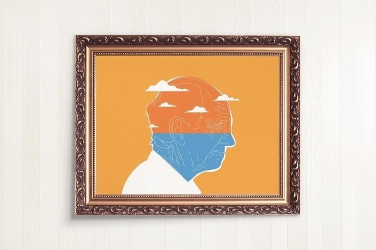 Man Sea. Illustration Society6 - federicogastaldi   ello