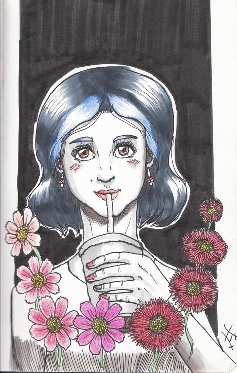 Popotito Sketch 18/02/17 - traditionalart - mahavigan | ello