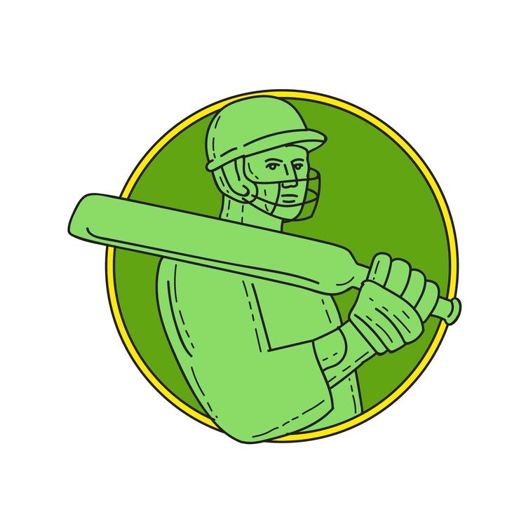 Circle Line - Cricket, Player, Batsman - patrimonio | ello