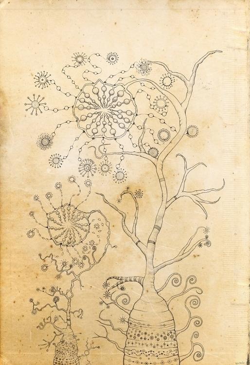 doodles: alien plants - bgolinvaux | ello