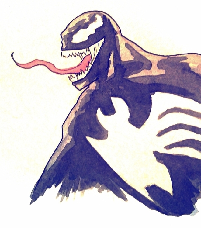 lil venom watercolor - art, ink - todrawtoday | ello