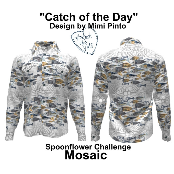 design catch day mosaic fish su - mimi-pinto | ello