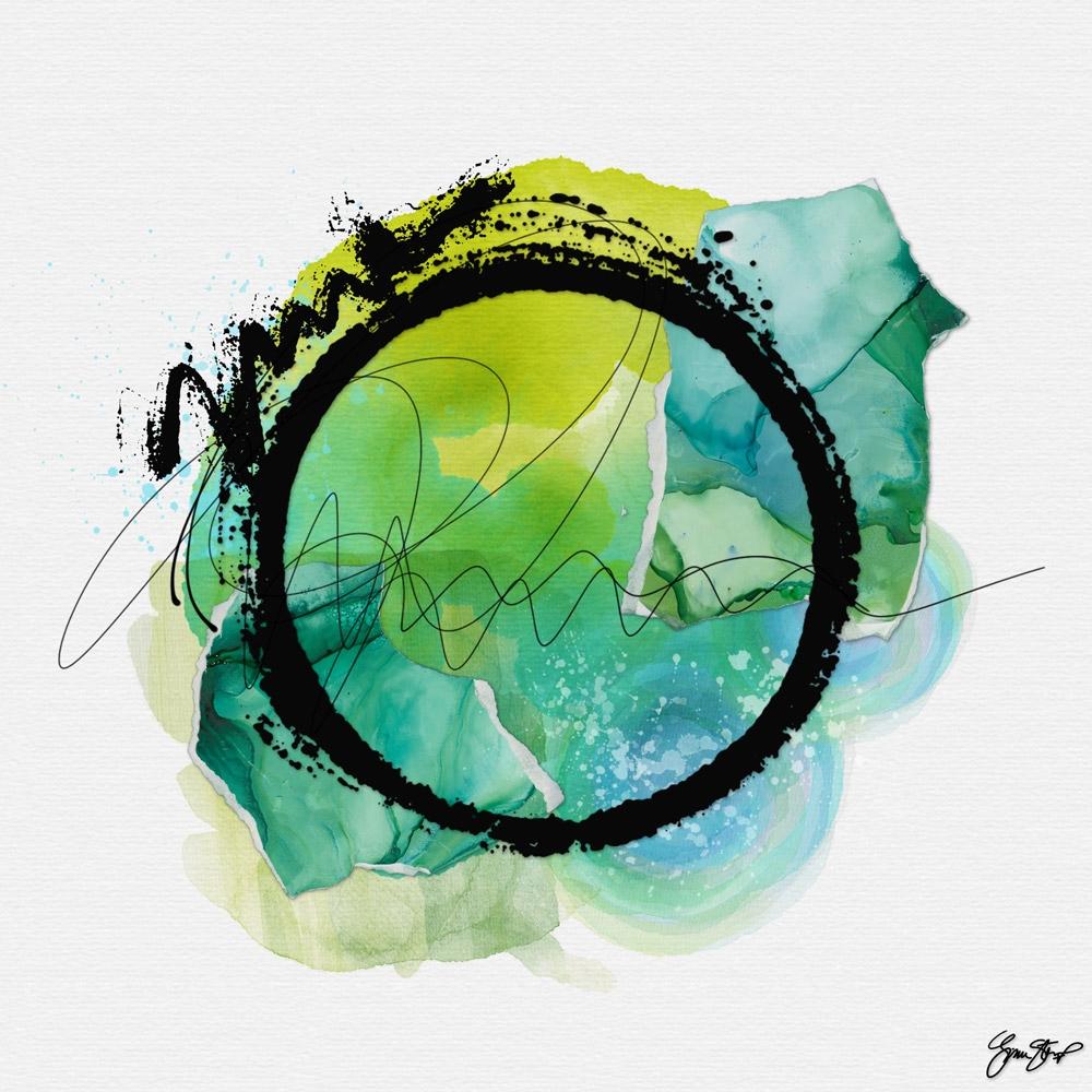 Green Friendly - abstract, art, mixedmedia - ginastartup | ello