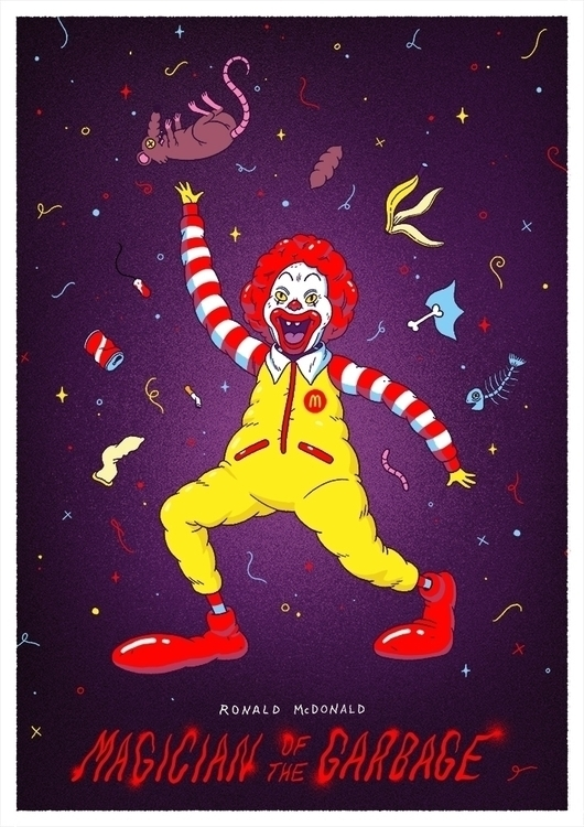 Ronald McDonald: Magician Garba - alex_red | ello