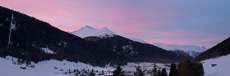 Davos, Switzerland Sunset World - jhollaholla | ello