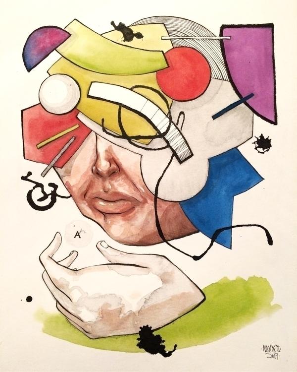 Colorblind 8x10 Gouache ink - awake_pdx | ello
