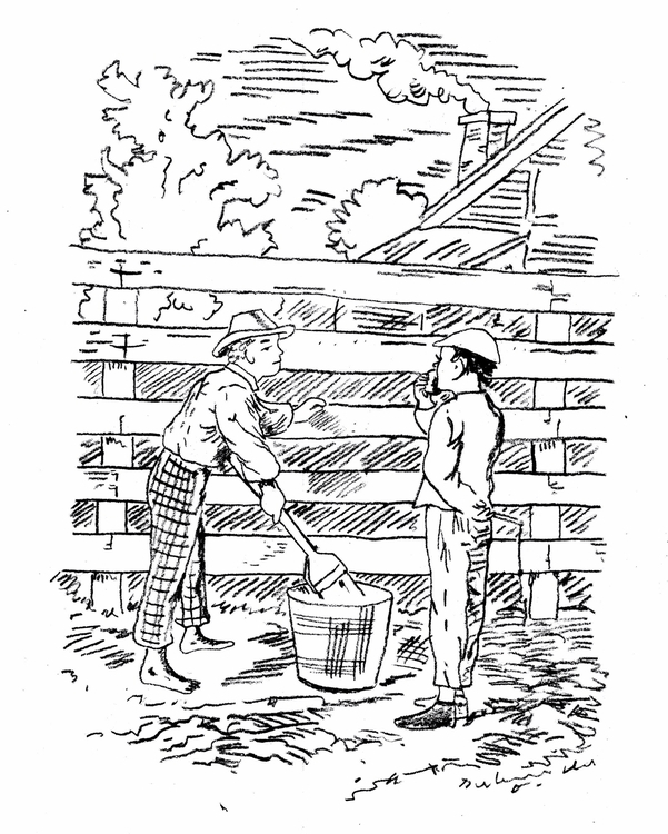 Tom Sawyer Whitewashing Fence R - vivlio | ello