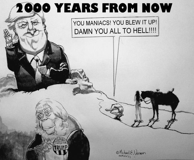 donaldtrump,, Trump,, caricature, - michaelvernon | ello