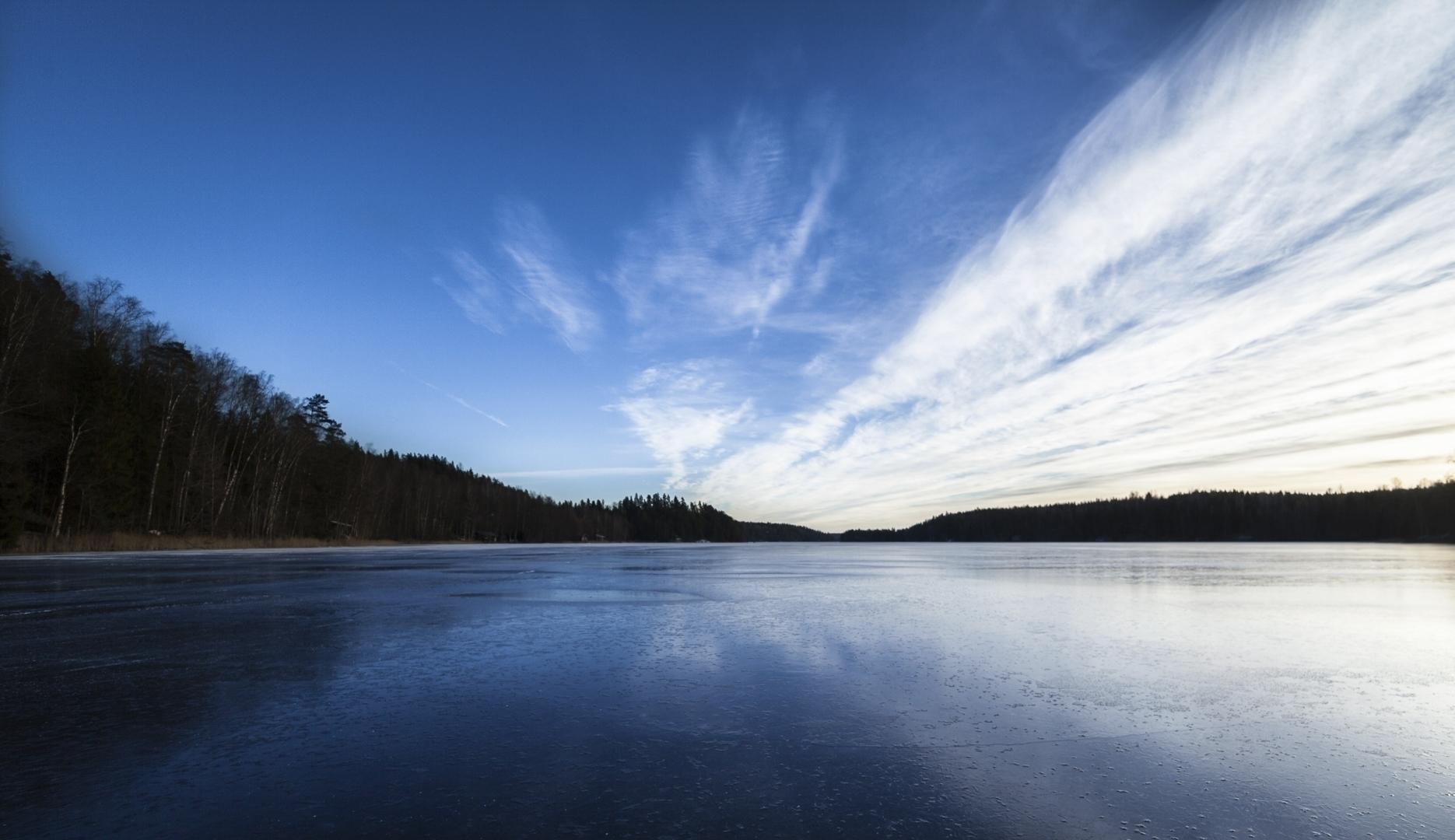 Blue White - photography, lake, finland - anttitassberg | ello