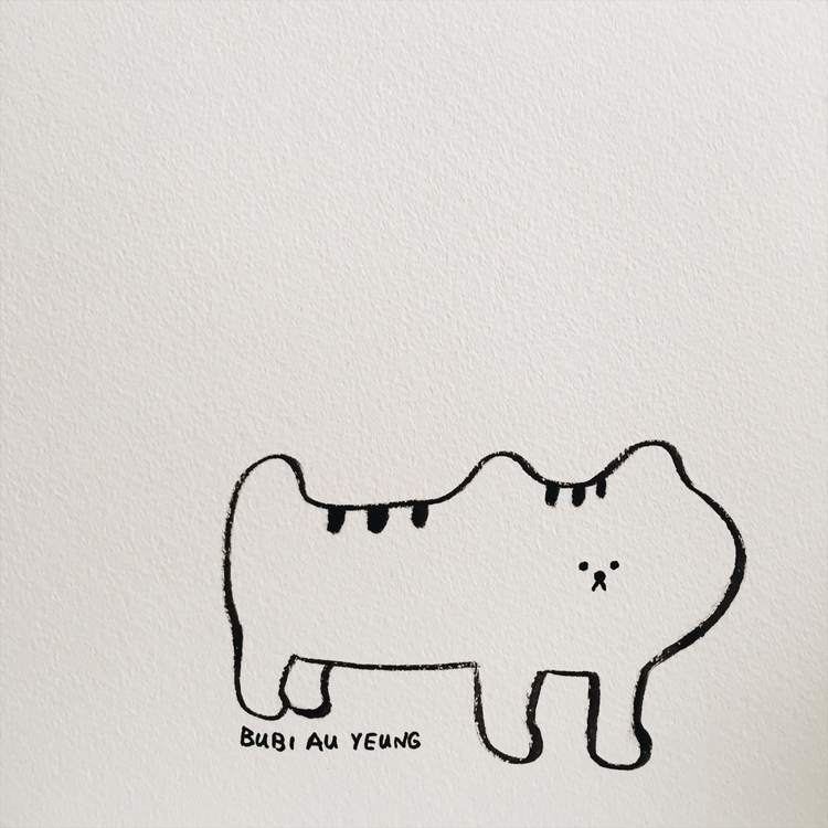 Organic cat - bubiauyeung, ink, drawing - bubi | ello