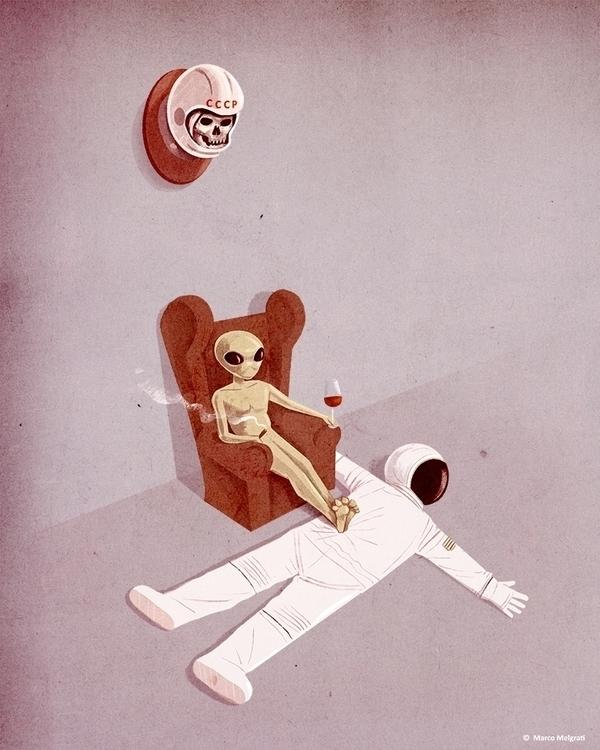 hunter - alien, ufo, illustration - marcomelgrati | ello