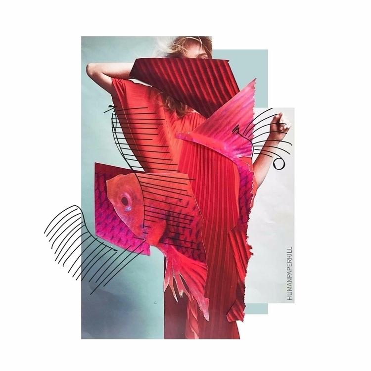 Pleated <3 Handmade collage  - magic_unicorn   ello