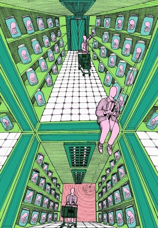 casual shopping - illustration, poster - kredenswproszku | ello