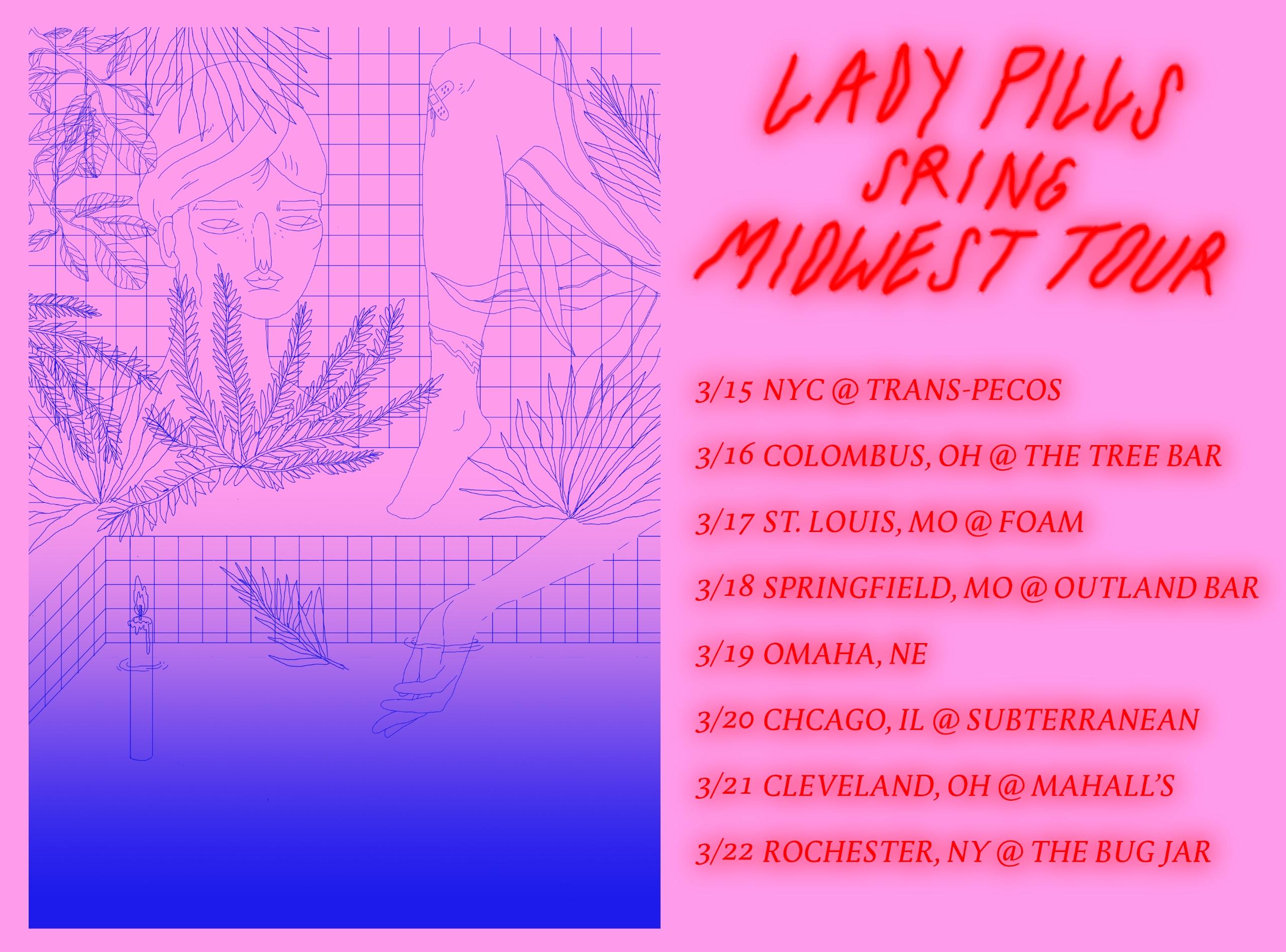 TOUR FLYER 4 LADY PILLS - margot-dreams | ello