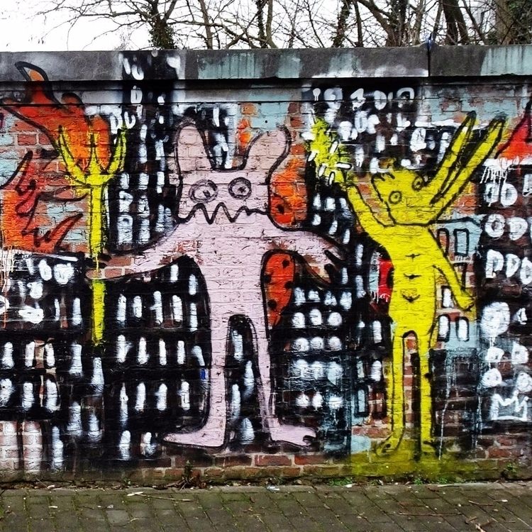Graffiti brick wall St Job, Ucc - thesupercargo | ello