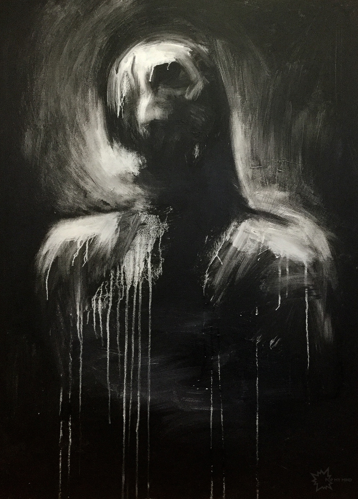Untitled Adam Riches. Acrylic c - popmymind | ello