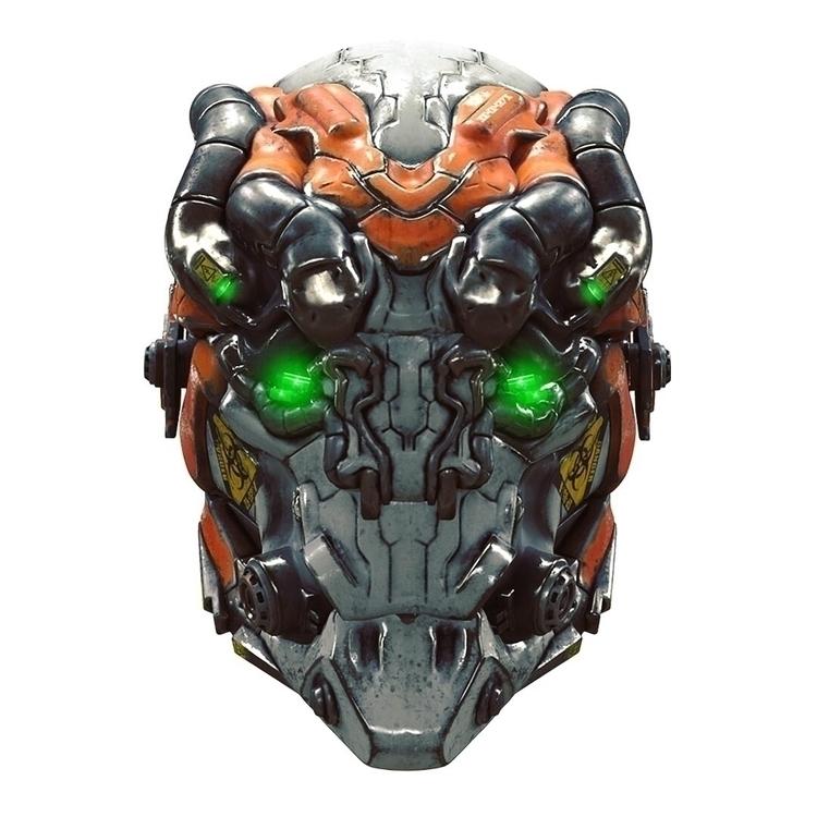 Mech helmet Concept - 3D, scifi - samkohvakka | ello