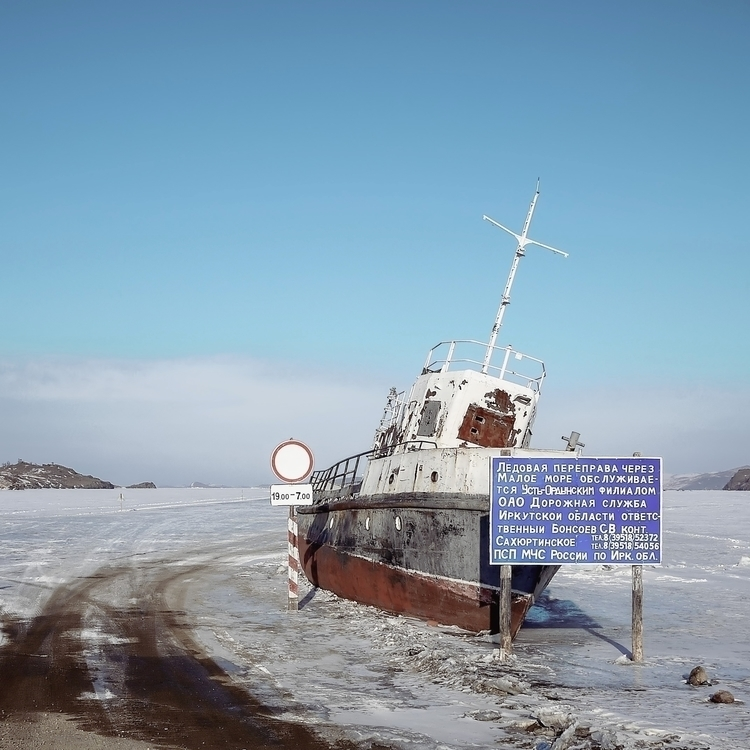 Ice road. icy today — parked bo - 8moments | ello