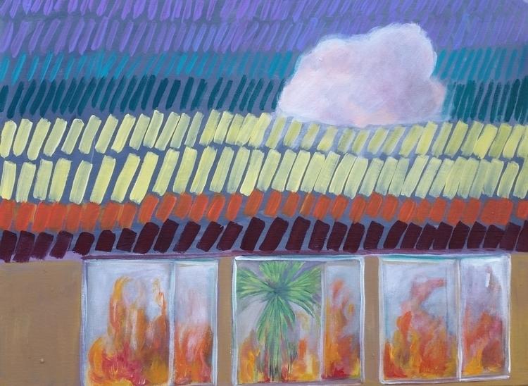18x24 acrylic canvas panel glas - roxymoxyart | ello
