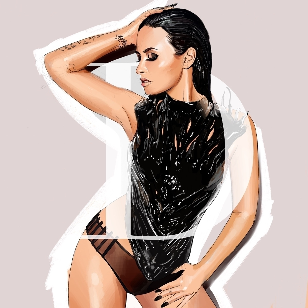 Demi Illustration - demi, demilovato - fmonroyr | ello