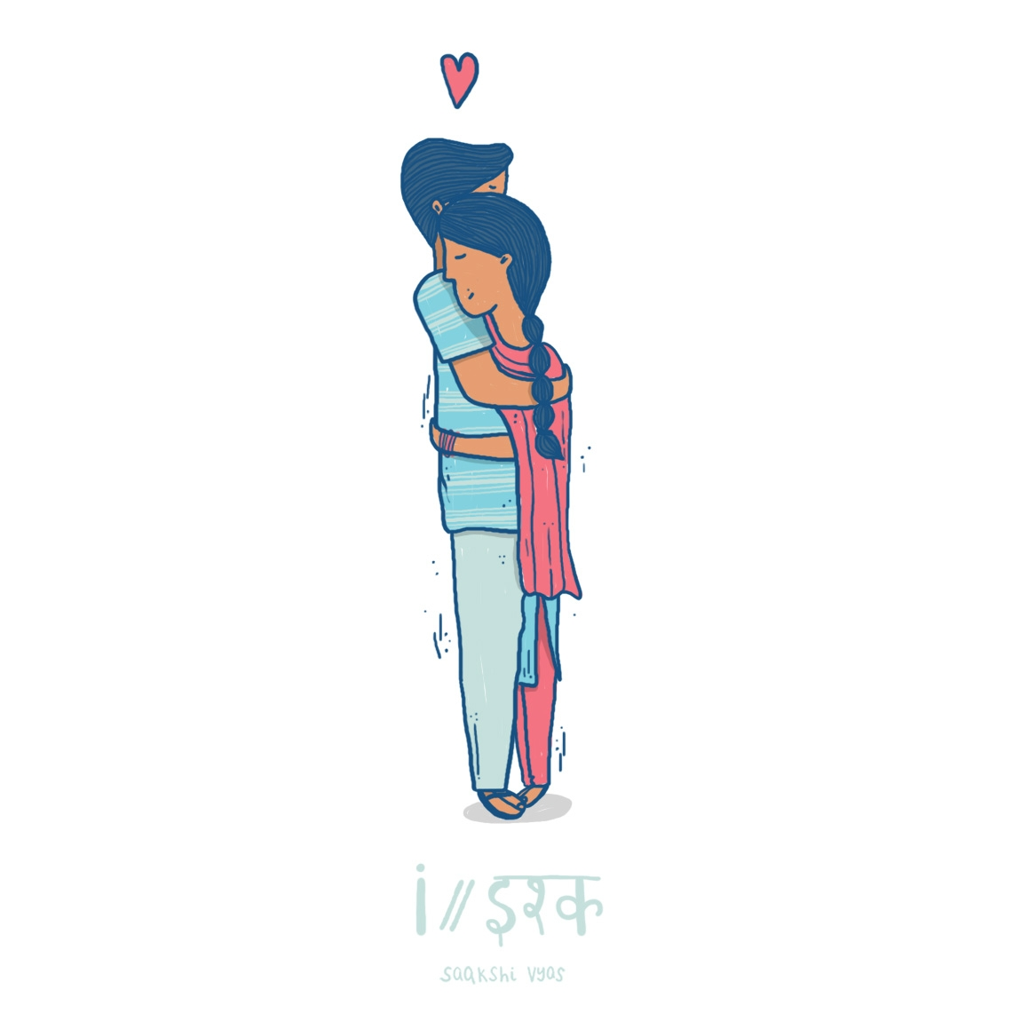 // Ishq (love) इश्क - 36days_i, 6daysoftype - skiimo | ello