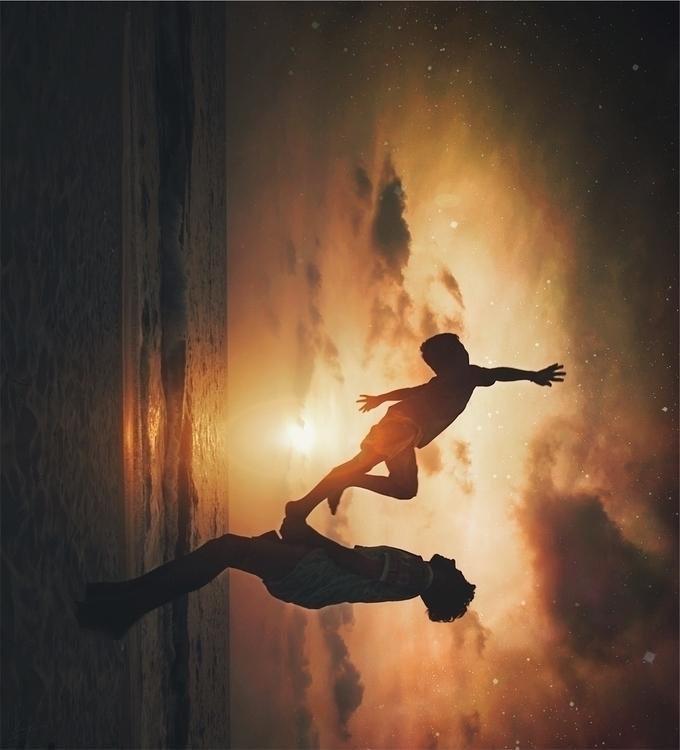 Reaching stars - beach, sky, cloud - riazhassan | ello