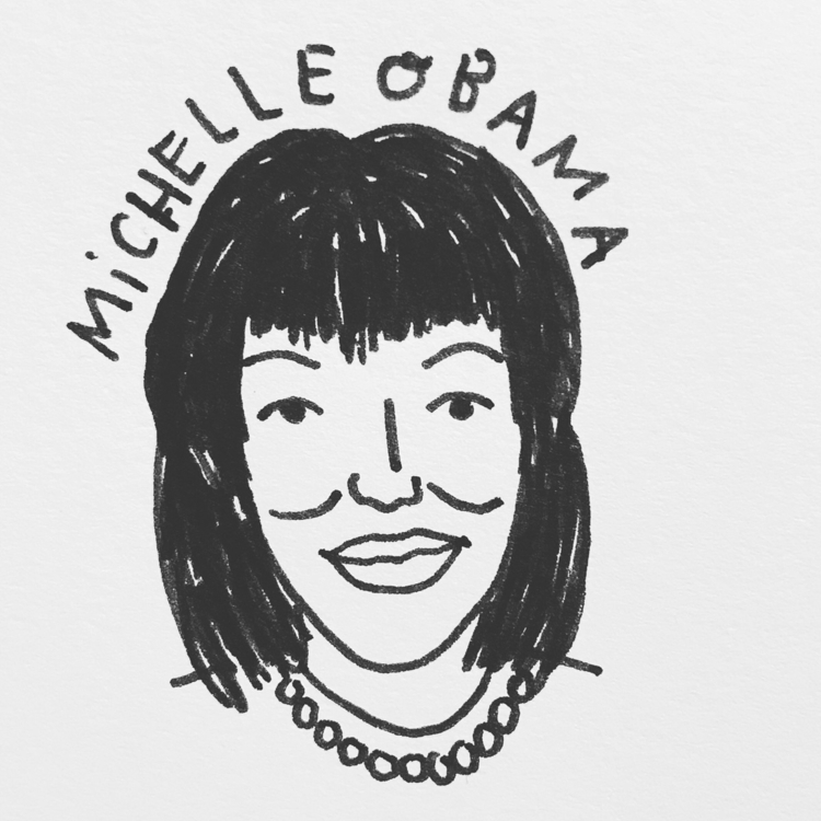 Daily Drawing - Michelle Obama  - wawawawick | ello
