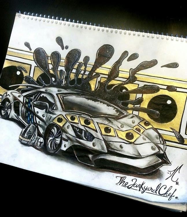 LamborghiniAventador - thejunkyardchef | ello