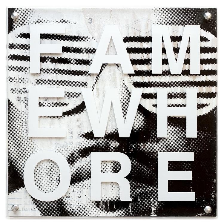 Fame Whore color screen printed - conartstudio | ello