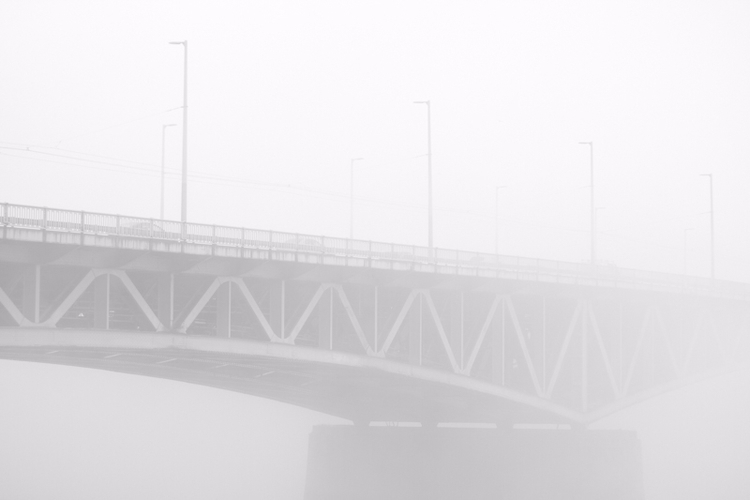 budapest, bridge, fog, winter - xirta   ello