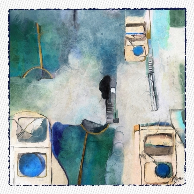Blue Morning - abstract, mixedmedia - ginastartup   ello