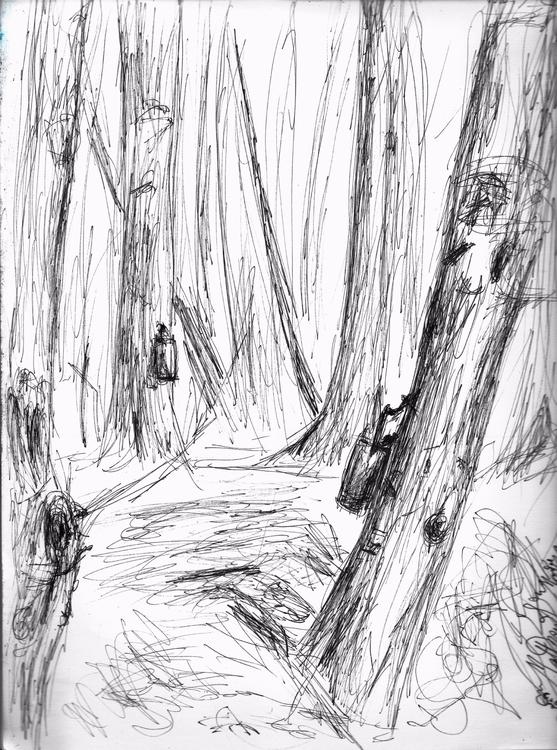 Maple Saping, ink, $30, 9 12, o - clan_morrison_art | ello