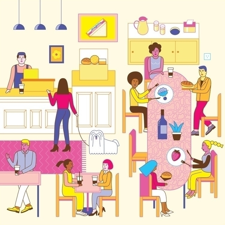 Corner bakery - wip, lifestyle, illustration - dingding_hu | ello