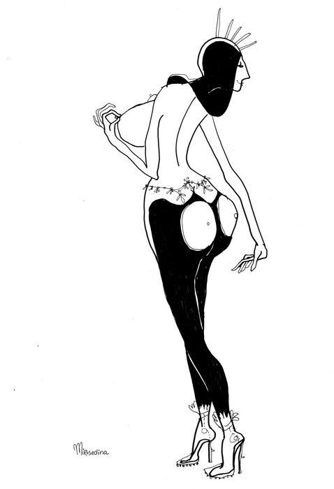 Salome transparent boots - graphic - mirosedina   ello
